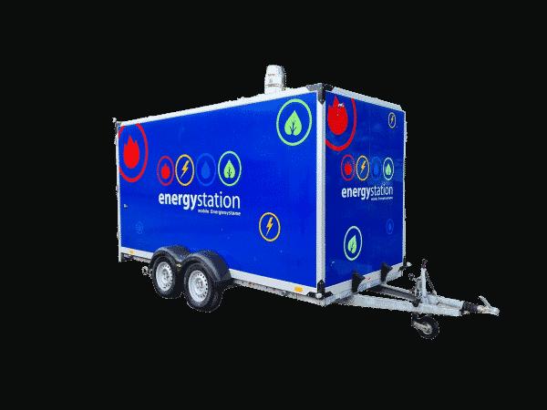 Heizanhänger mobile Heizzentrale im PKW Anhänger