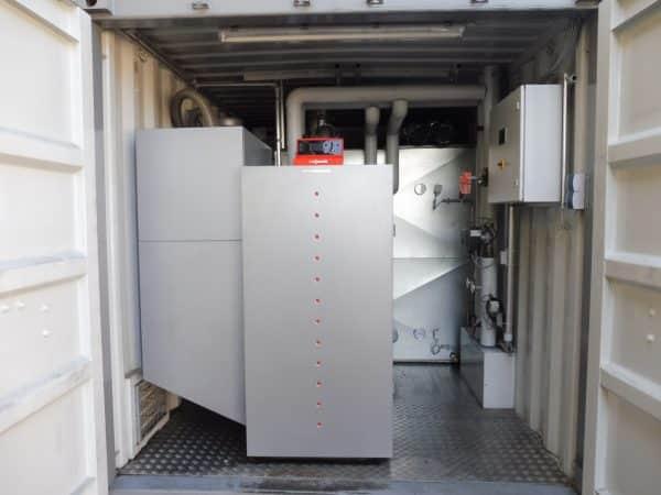 Pelletheizcontainer Biomasseheizung Vermietung