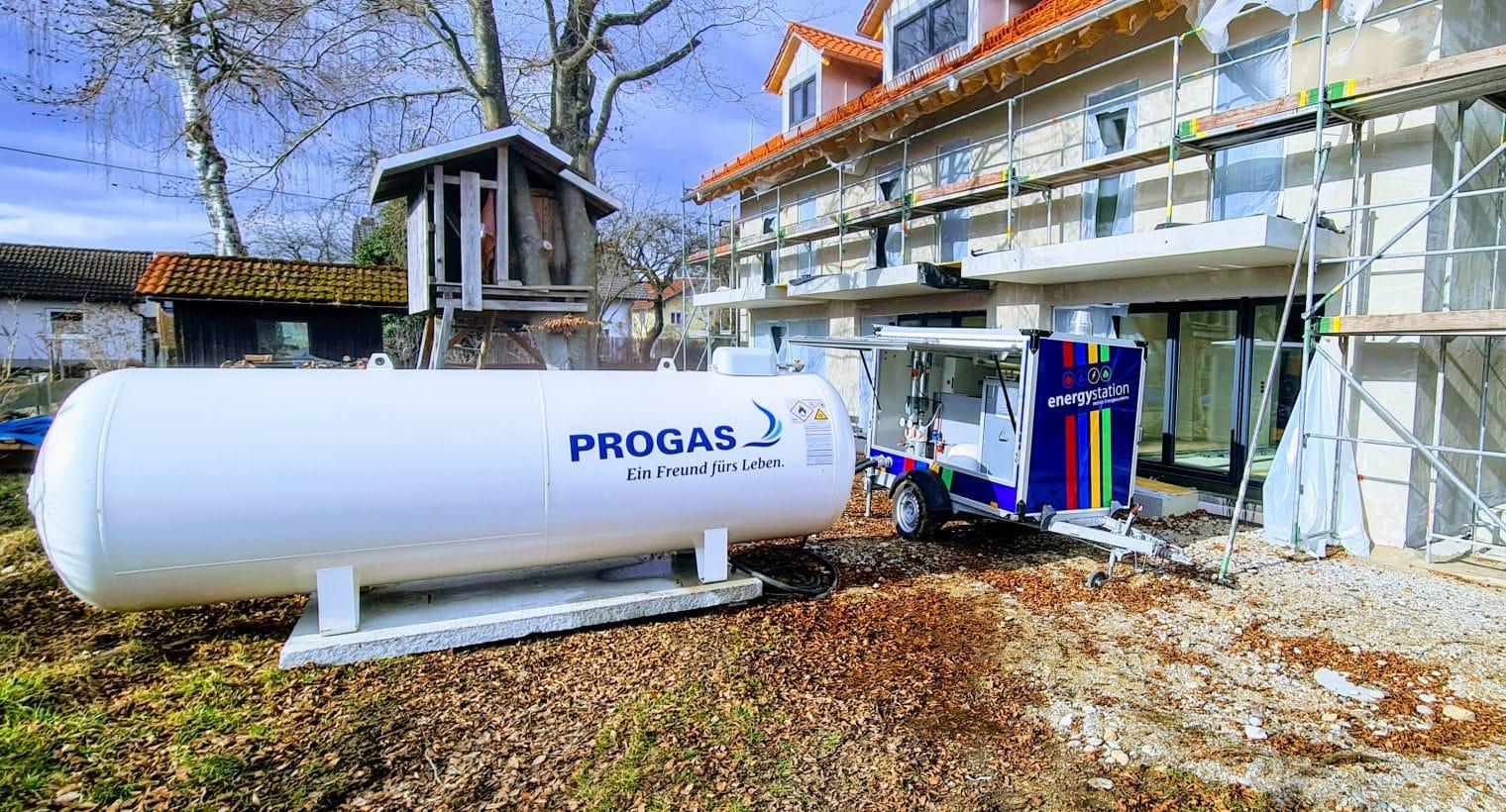 flüssiggas mobile heizzentrale