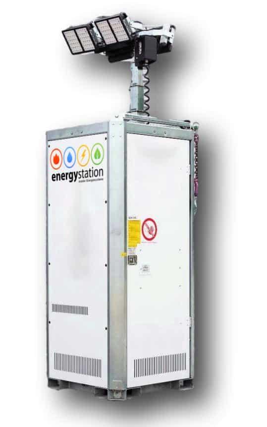 mobiler Lichtmast mit Generator